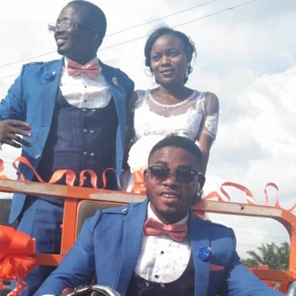 Ekiti OAP Shares Wedding Pictures, Rides In Style With Bride To Reception In A Motorcycle Truck - autojosh