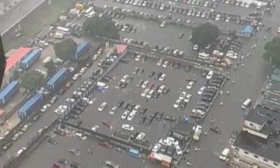 Heavy Flooding In Marina, Lagos Drowns Dozens Of Cars - autojosh
