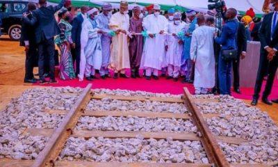 President Muhammadu Buhari Flags Off $1.2bn, 203.8km Kano-Kaduna Rail Project - autojosh