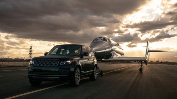 Range Rover Tows Space Plane As UK Billionaire Richard Branson And 3 Crews Blasts Into Space - autojosh