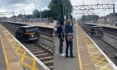 Two Police Officers Injured As Thief Races Stolen Land Rover Discovery SUV Down A Train Track - autojosh