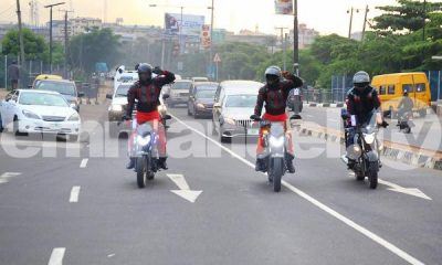 Moment T.B. Joshua's Corpse Arrived At Synagogue In Mercedes Hearse Accompanied By Motorcycle Escorts - autojosh