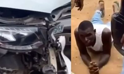 Car Wash Worker Takes Customer's Mercedes To Buy Food, Crashes It In Lagos - autojosh