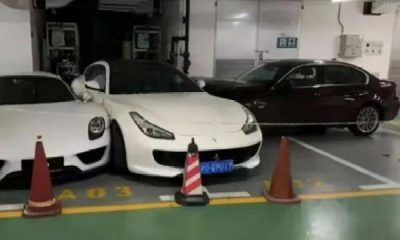 Chinese Wife Quarrels With Husband, Rams BMW Into Several Cars, Including Ferrari, Porsche And Mercedes - autojosh