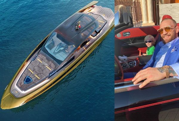 Highest Paid Athlete Conor McGregor Takes Delivery Of His ₦1.7b Lamborghini Supercar-Inspired Yacht - autojosh