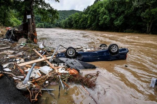 In Pictures : Flood From Heavy Downpour Sweeps Hundreds Of Cars Away In Germany, Kills 70, Many Missing - autojosh