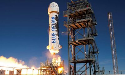 World's Richest Man Jeff Bezos Launches To Space Aboard New Shepard Rocket Ship