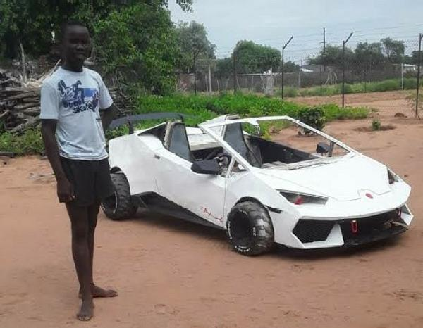Meet 21-year-old Son Of Pepper Seller Who Spent 4 Years Building His Own Lamborghini - autojosh