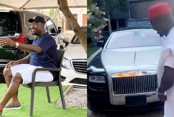 Luxury Cars Inside Billionaire Obi Cubana's Garage, Including Lexus LX 570 And Rolls-Royces - autojosh
