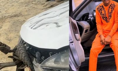 Instagram Comedian Oluwadolarz Thank Fans For Their Prayers After Crashing His Lexus In Lekki - autojosh