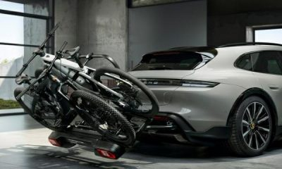 Check Out Porsche Taycan Cross Turismo 'Rear Bicycle Carrier' That Can Be Installed In 3-mins - autojosh
