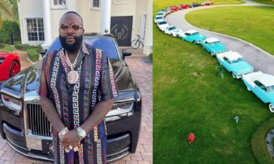Watch: Rick Ross Shows Off Collection Of His Classic American Cars And Trucks - autojosh