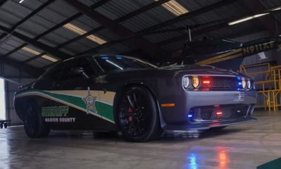 Police Department Turns Dodge Challenger Hellcat Seized From Drug Dealer Into Police Car - autojosh