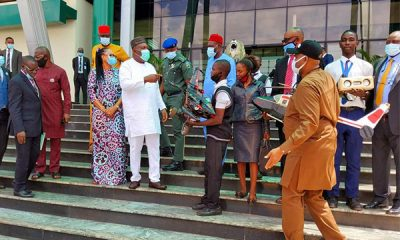 Enugu State Gov. Ugwuanyi Awards Scholarship To 2 Students Of Govt. Technical College Who Built Aircrafts - autojosh