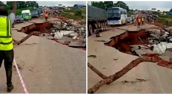 FRSC Advises Motorists To Take Alternative Routes After A Portion Of Lokoja-Kabba Road Collapsed - autojosh