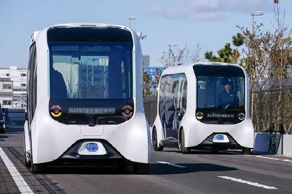 Toyota Self-driving Bus Resumes Services At Olympic Village After One Collided And Injured An Athlete - autojosh