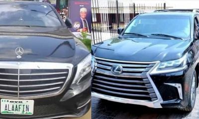 Luxury Cars In Alaafin Of Oyo's Garage, Including Lexus, Mercedes, Toyota, Custom Limo - autojosh