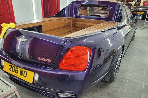 Take Your Luggage In Style With This Bentley Continental Pickup