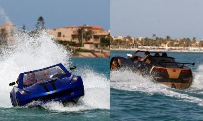 Luxury Sports Cars That Can Drive On Water Turns Heads In Egypt - autojosh