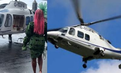 Watch : DJ Cuppy Rides In Style In Helicopter To Watch Polo, Says It Is Faster Than Her ₦83m Ferrari - autojosh