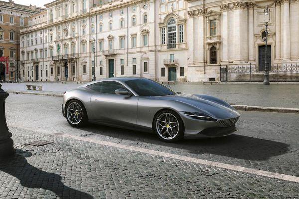 Watch : Ferrari Roma Gets Stuck Between Walls On A Narrow Road In Italy - autojosh