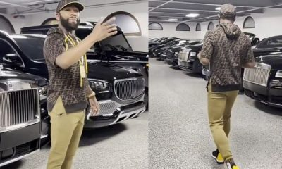 Floyd Mayweather Shows Off His All-black 'Sweet 16' That Includes Ferraris, Rolls-Royces, Bentleys, Lamborghini, Maybachs - autojosh