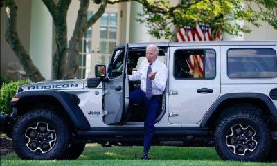 US President Joe Biden Takes Hybrid Jeep Wrangler SUV For A Spin Around White House - autojosh