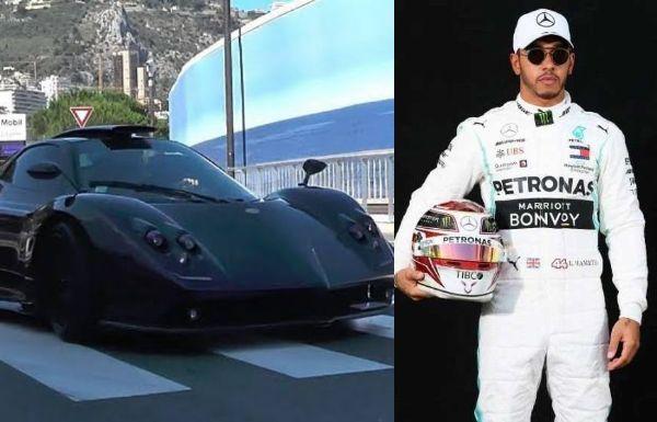 Lewis Hamilton Takes His $1.4m Pagani Zonda For A Spin Despite Promising To Drive Only EVs - autojosh