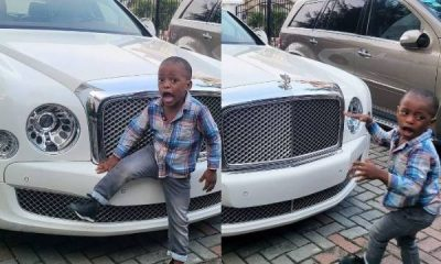 Linda Ikeji Says Her Son Is Already 'Car Crazy', Now Begs To Take Pics With Her Bentley Mulsanne - autojosh