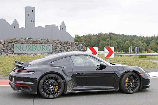 2023 Porsche 911 Turbo Hybrid Caught Testing At The Nürburgring