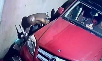 Thief Who Specializes In Stealing Brain Box Caught On CCTV Breaking Into Mercedes In Warri - autojosh