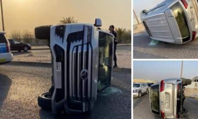 Another 2022 Toyota Land Cruiser 300 SUV Has Been Crashed After Flipping Over - autojosh