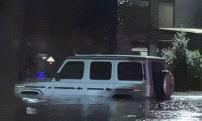 50 Cent Wonders If The World Is About To End After Flood Submerged Cars In US, Including G-Wagon - autojosh