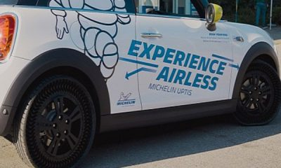 Say Goodbye To Flat Tyres As Michelin Airless Uptis Tyre Gets First Public Outing - autojosh