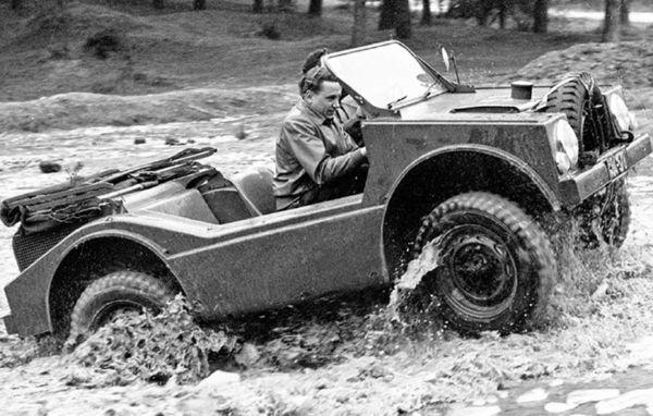 Meet Porsche 597 Jagdwagen, An Offroader That Can Drive On Land And Water - autojosh