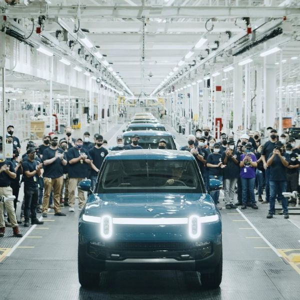 First Production Rivian R1T Electric Pickup Truck Rolls Off Assembly Line - autojosh
