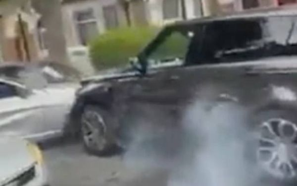Terrifying Moment Stolen Range Rover Repeatedly Smashes Into BMW, Also Hits 12 Parked Cars - autojosh
