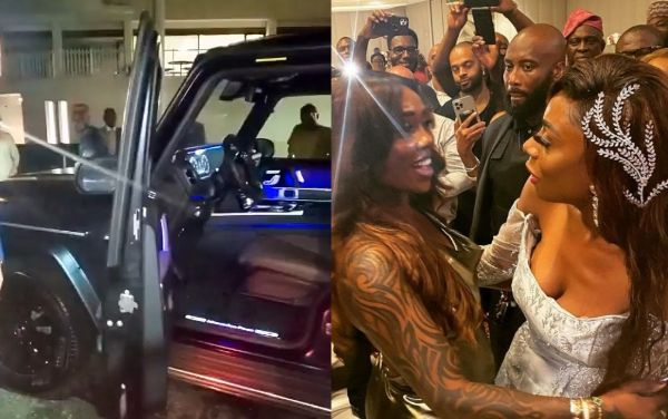 Tiwa Salvage Performs At Wedding In U.S As Bride, Nneka, Gets Mercedes G-Wagon Gift From Dad - autojosh