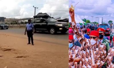 'Only One Person', 50 Vehicles', Imo Residents Reacts To Buhari's Convoy As They Raced Through The Streets - autojosh
