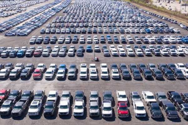 Thousands of Unfinished Brand New Vehicles Parked As Chip Shortage Continues - autojosh