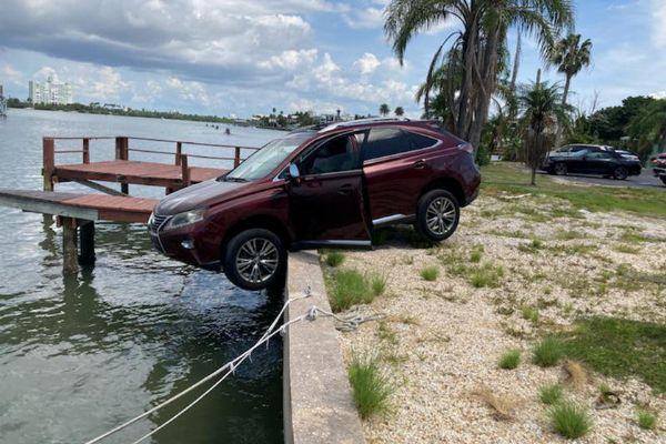 Police Arrest Drunk Driver Hours After Parking His Lexus RX Over The Pier - autojosh