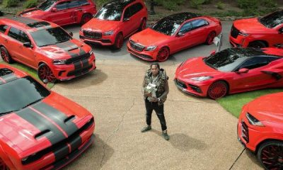 American Rapper, Moneybagg Yo Turns 30, Shows Off His Red-finished Cars And $1.5M Cash - autojosh