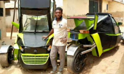 Meet The Nigerian Who Built His Own Luxury 3 Wheeler Cos He Couldn't Afford A Polaris Slingshot - autojosh