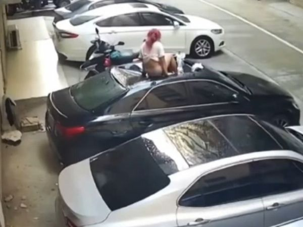 Moment Side Chic Jumps From 4th Floor After Wife Returns Home, Landed On Car Roof - autojosh