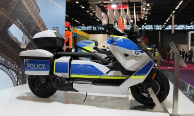 BMW Showcases Police Version Of Its 75 Mph CE 04 Electric Scooter - autojosh
