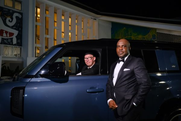 British Deputy High Commissioner, Coscharis GM Poses With All-new Land Rover Defender At The Reception Of James Bond's 'No Time To Die ' In Lagos - autojosh
