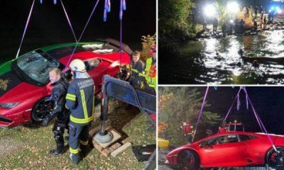 Lamborghini Owner Confuses Brake And Accelerator Pedals, Reverses Into 49ft-deep Lake - autojosh
