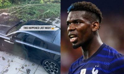 Man Utd Star Paul Pogba's Rolls-Royce Wraith Nearly Smashed By Huge Tree During Storm - autojosh