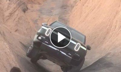 "Dangerous Hill Climb : Watch Rivian R1T EV Truck Conquer ""Hell's Gate"" - autojosh"