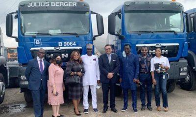 380km Abuja-Kaduna-Kano Expressway : SCOA Hands Over MAN Trucks, Machines To Julius Berger - autojosh